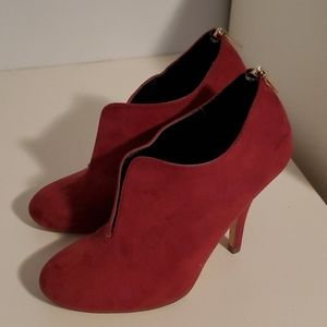 Call it spring dark red shoes 7.5